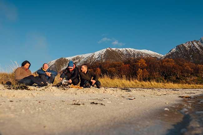 Visit Harstad - fishing - campfire - Harstad sentrum