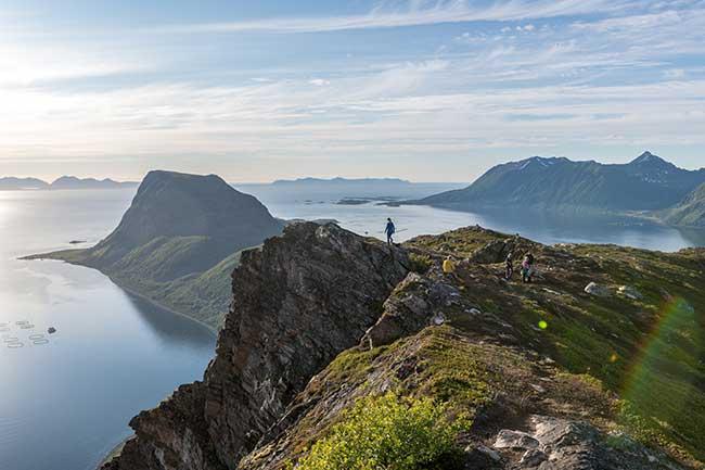 Visit Harstad - panorama - fjord - Keipen - Harstad sentrum