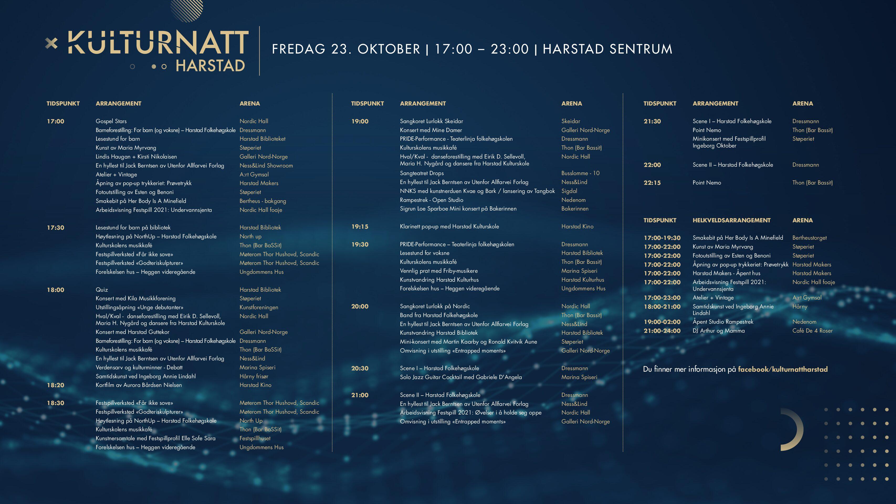 Kulturnatt fredag 23. oktober